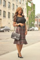 Chanel bag - winners skirt - Forever 21 pumps - H&M top