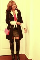 Call it Spring boots - le chateau coat - Chanel purse - Forever 21 skirt
