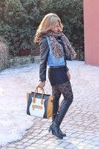 winners boots - Forever 21 jacket - Celine bag - Forever 21 vest