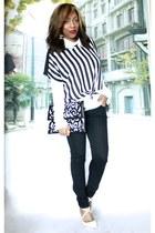 Forever 21 shirt - Forever 21 blouse - H&M pants - Christian Louboutin heels