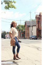 Call it Spring boots - Guess jeans - Forever 21 blouse
