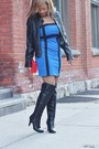 Forever-21-dress-call-it-spring-boots-forever-21-jacket-chanel-purse