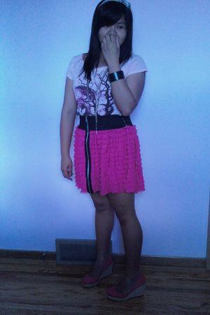 pink garage shirt - Montego Bay shoes - black accessories