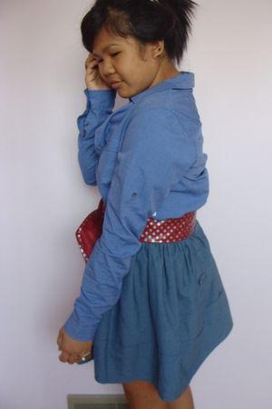 blue Kismet dress - blue skirt