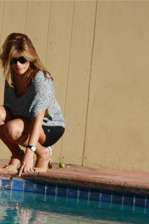 Tommy Hillfiger shorts - ann taylor sweater - vintage chanel sandals