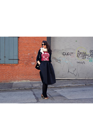 cashmere J Crew scarf - suede Diane Von Furstenberg bag