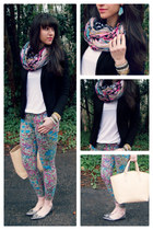 aztec infinity asos scarf - floral skinny 7 for all mankind jeans
