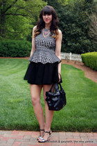 neon statement Nordstrom necklace - Valentino bag - Dorothy Perkins top