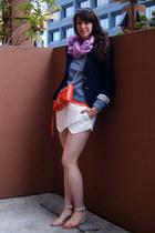 Tous scarf - schoolboy J Crew blazer - mini mac Rebecca Minkoff bag - Zara skirt