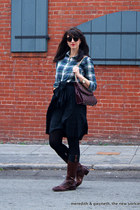 equestrian Ariat boots - flannel plaid J Crew shirt