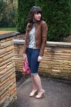 leather haute hippie jacket - leopard Rebecca Taylor sweater