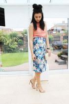warehouse top - Accessorize bag - warehouse skirt - Zara heels - Chanel watch