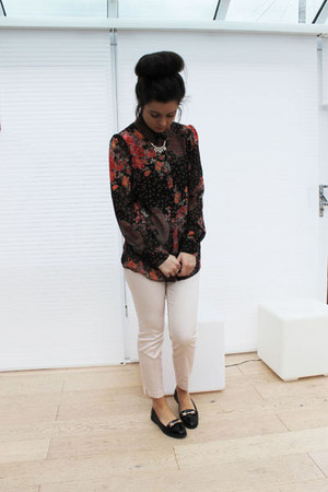 Miss Selfridge shirt - H&M necklace - H&M pants - next loafers