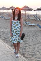 black River Island bag - white Laundry Boutique dress - white Topshop sandals