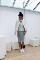 Primark necklace - Boohoo jacket - Boohoo shirt - Topshop skirt