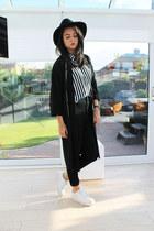 black Miss Selfridge jeans - black Miss Selfridge hat - black Topshop blazer