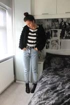 Topshop cardigan - Topshop shoes - Topshop jeans - Forever 21 belt