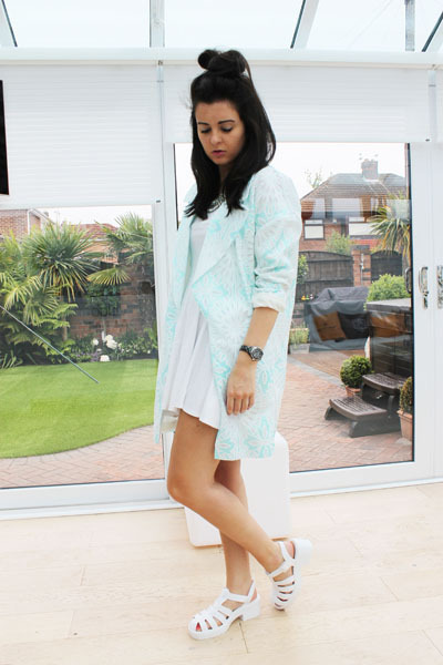 River Island jacket - River Island shoes - Missguided dress - new look necklace