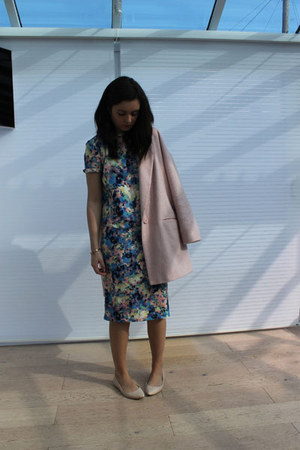River Island coat - warehouse top - warehouse skirt - Dorothy Perkins flats