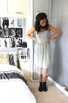 Topshop dress - River Island boots - Topshop necklace