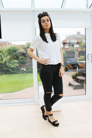 Boohoo shirt - new look jeans - Topshop sandals - Chanel watch