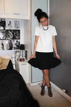 next skirt - new look necklace - Topshop top - Miss Selfridge heels