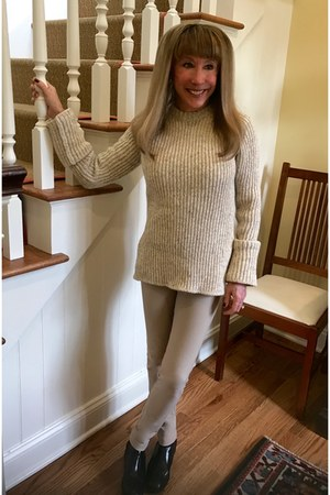 taupe joseph sweater - black TODs boots - taupe joseph pants