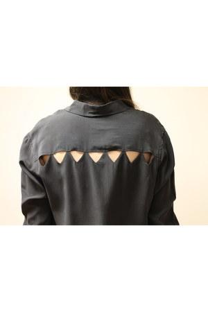 gray Hardtail cardigan - dark brown Via Spiga boots