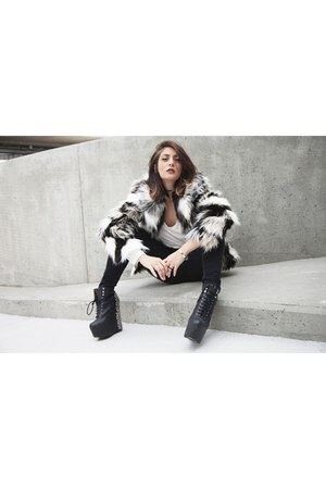 Lee jeans - H&M jacket - asos top - Jeffrey Campbell wedges