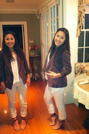 light brown Forever 21 blazer - light orange free people shoes