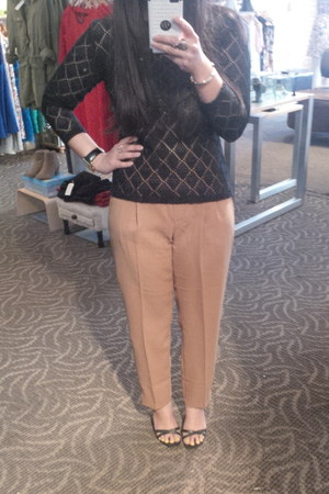 thrifted top - Costa Blanca pants - Nine West wedges