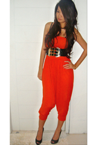 black Topshopshop shoes - black Guess belt - orange Zara