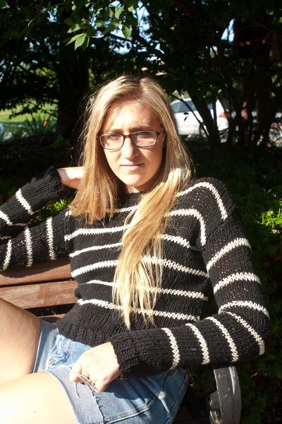 striped cropped MEG KNITS sweater
