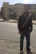 Bossini jacket - Arabian scarf - YiSHiON jeans - Converse shoes