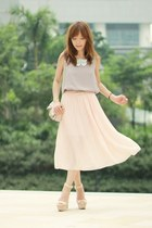 light pink bow RED valentino bag - light pink Sheinside dress