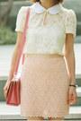 Light-pink-hairclip-h-m-accessories-cream-bbw-dress-bubble-gum-bag