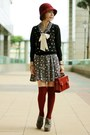 Suede-lace-up-boots-dress-cloche-hat-satchel-bag-forever-21-socks