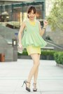 Choies-bag-aquamarine-sheinside-top-yellow-chinese-knot-necklace