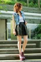 DIY Studded Denim Vest