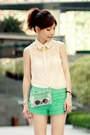 Light-yellow-candy-colours-necklace-eggshell-lace-shirt-choies-bag