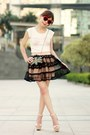Light-pink-ianywear-skirt-black-bag-red-heart-shaped-sunglasses