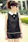Black-diy-hair-accessory-white-retro-sunglasses