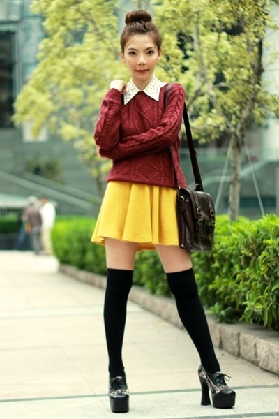 Maroon Suede Skirt - How to Wear and Where to Buy | Chictopia