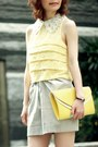 Yellow-forever-21-top-silver-tulip-skirt-h-m-shirt