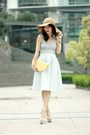 Tan-floppy-hat-h-m-hat-yellow-lemon-clutch-monki-bag-white-topshop-top