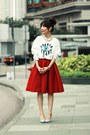 White-sequined-eye-local-store-sweatshirt-red-full-midi-skirt-choies-skirt