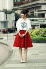 White-sequined-eye-local-store-sweatshirt-red-full-midi-skirt-choies-skirt