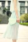 White-star-bracelet-mustard-eiffel-tower-bracelet-light-blue-ianywear-dress