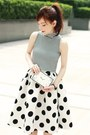 White-clock-face-choies-bag-white-choies-skirt-black-murua-top