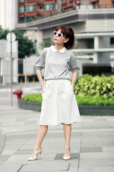 white PROENZA SCHOULER bag - white Zara sunglasses - white Spiral girl pants